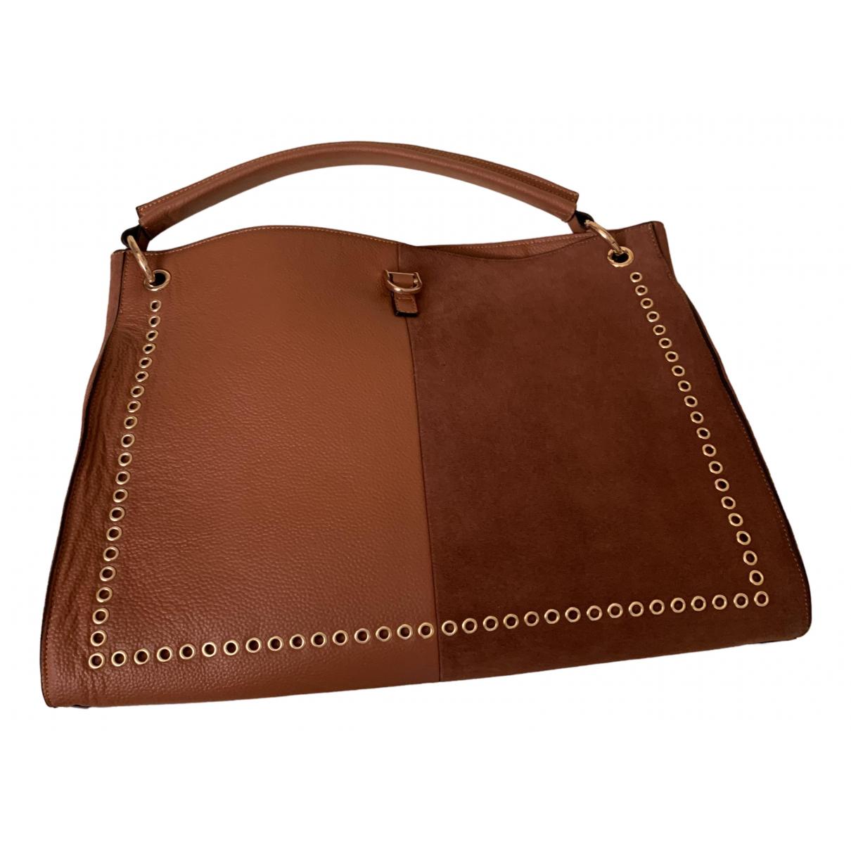 Mia Bag \N Handtasche in  Kamel Leder