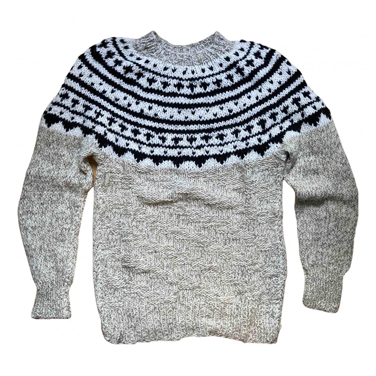 Non Signe / Unsigned \N Pullover.Westen.Sweatshirts  in  Beige Wolle