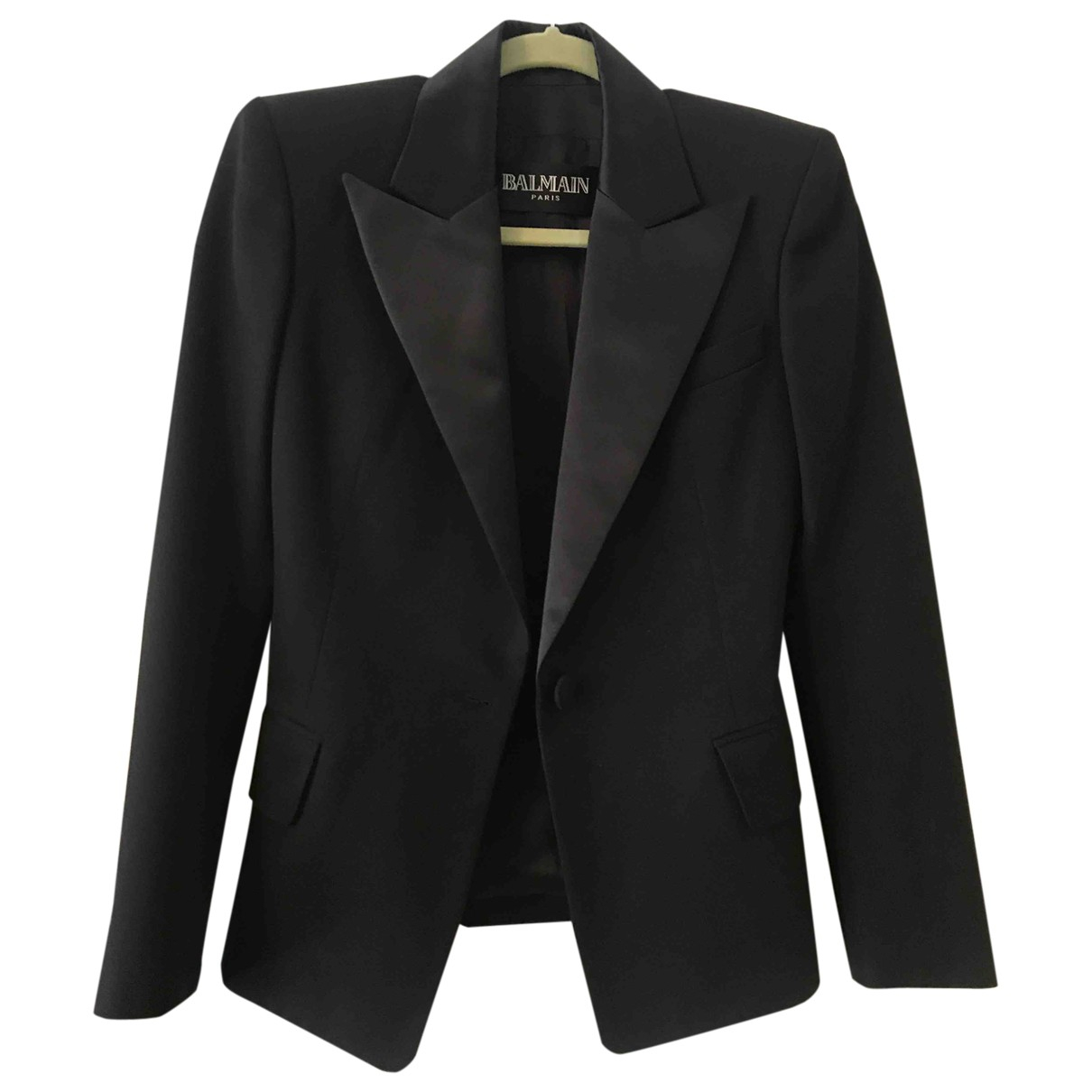 Balmain \N Black Wool jacket for Women 36 FR