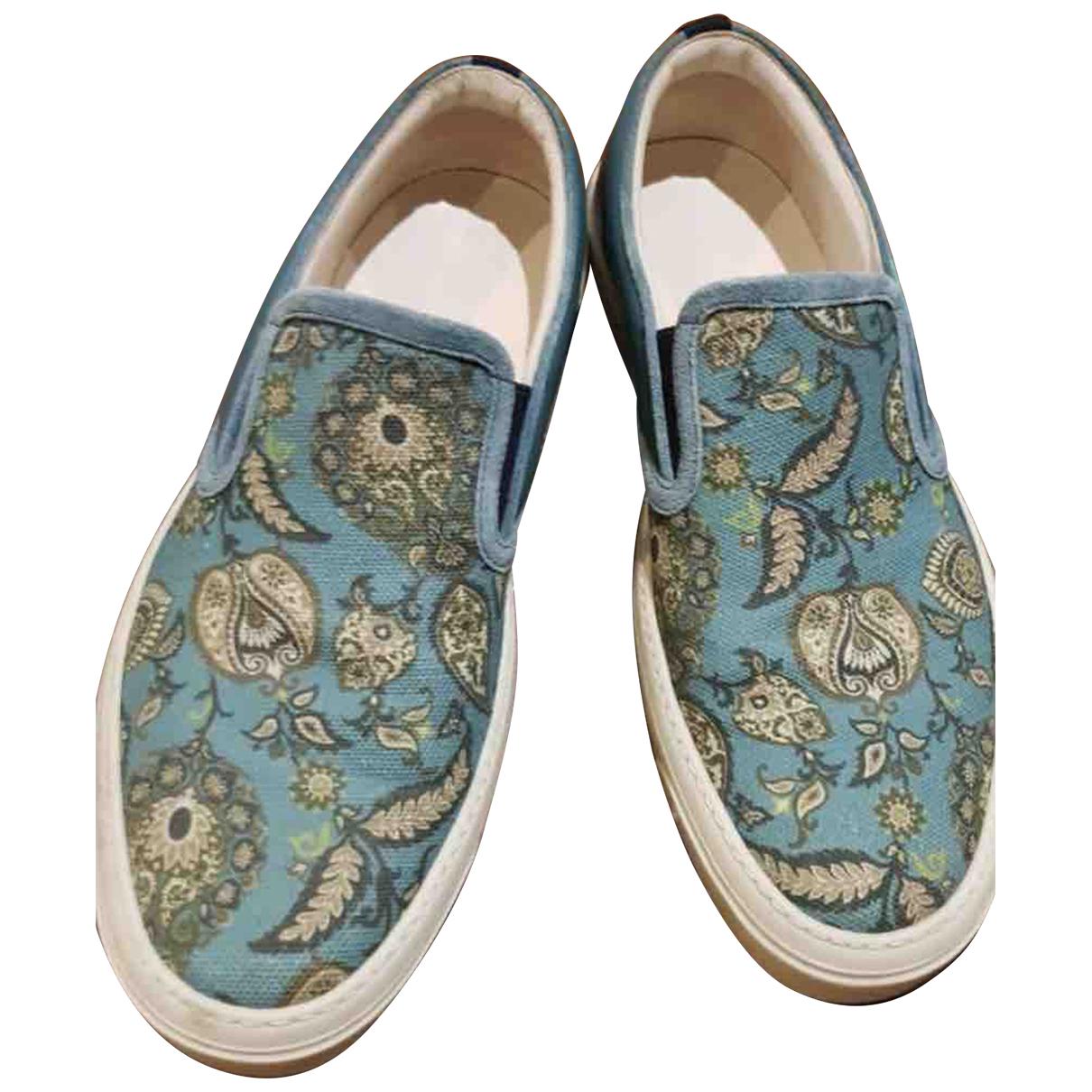 Gucci - Derbies   pour femme en toile - turquoise