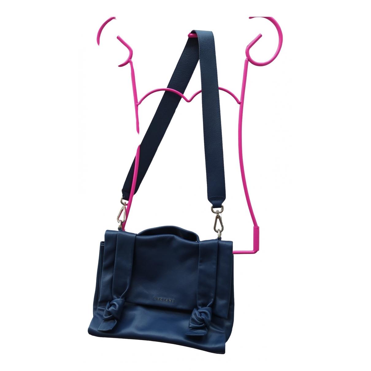 Orciani \N Handtasche in  Blau Leder