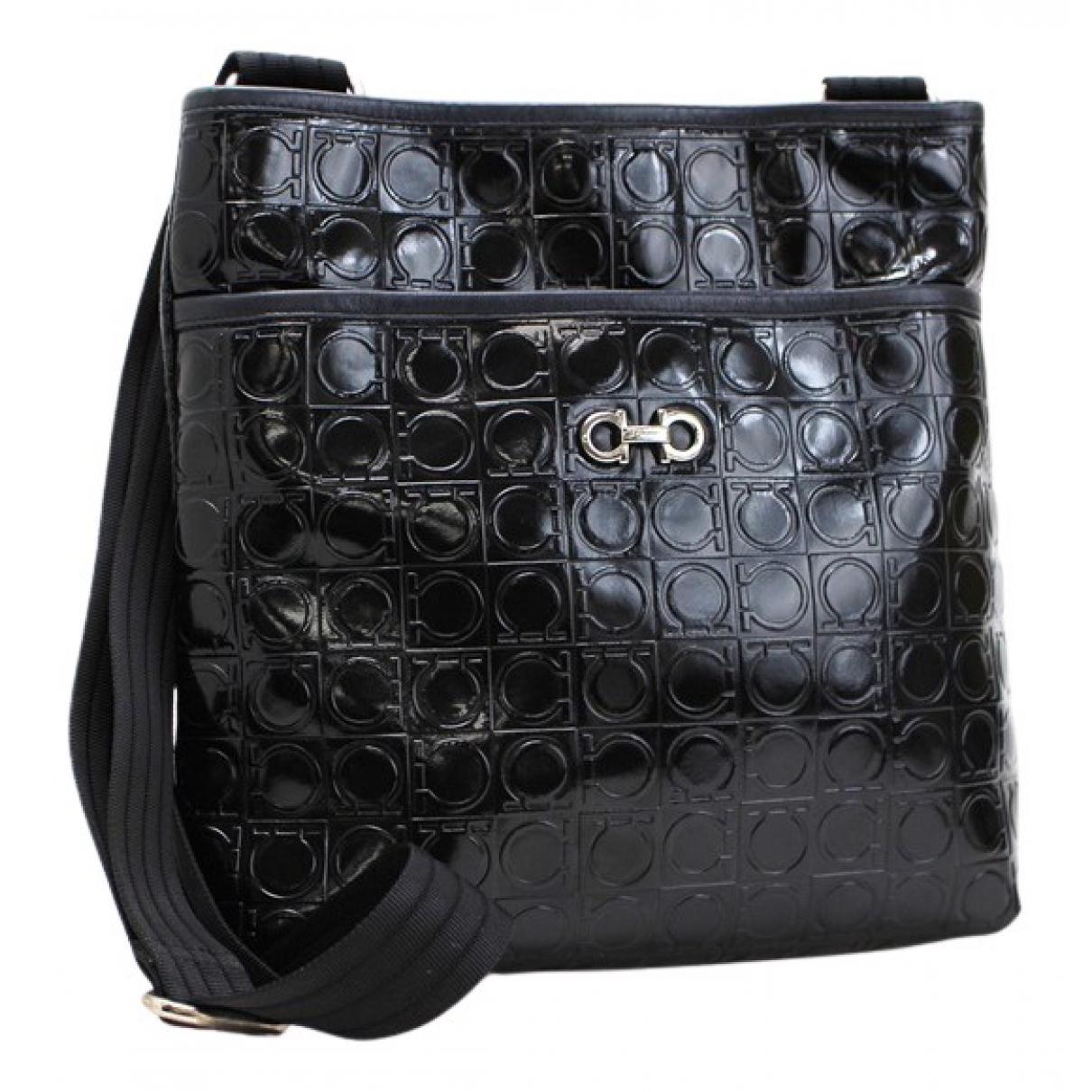 Salvatore Ferragamo N Black Patent leather handbag for Women N