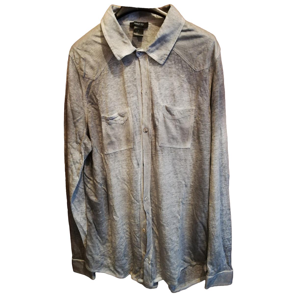 Avant Toi - Chemises   pour homme en lin - gris