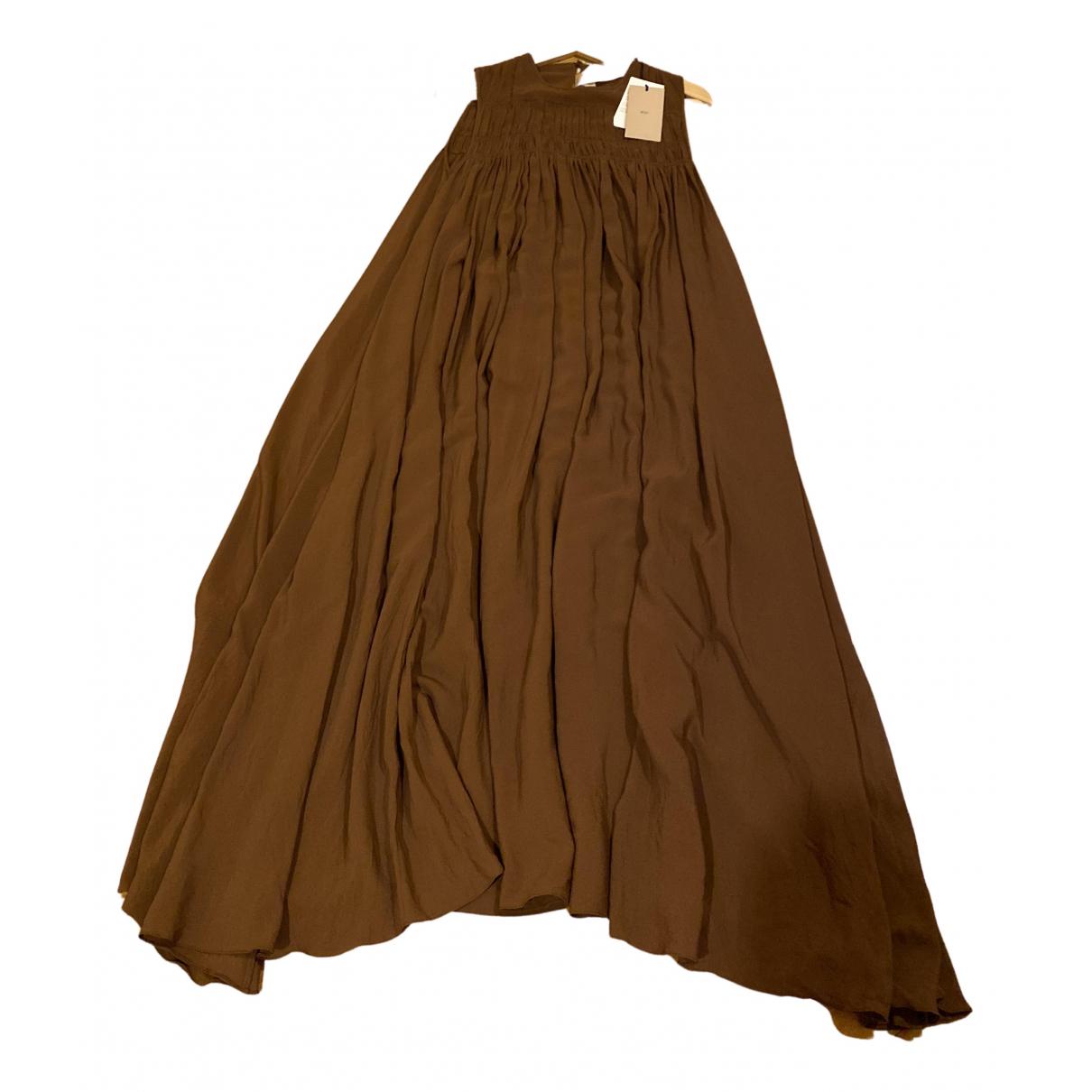 N°21 - Robe   pour femme en soie - marron