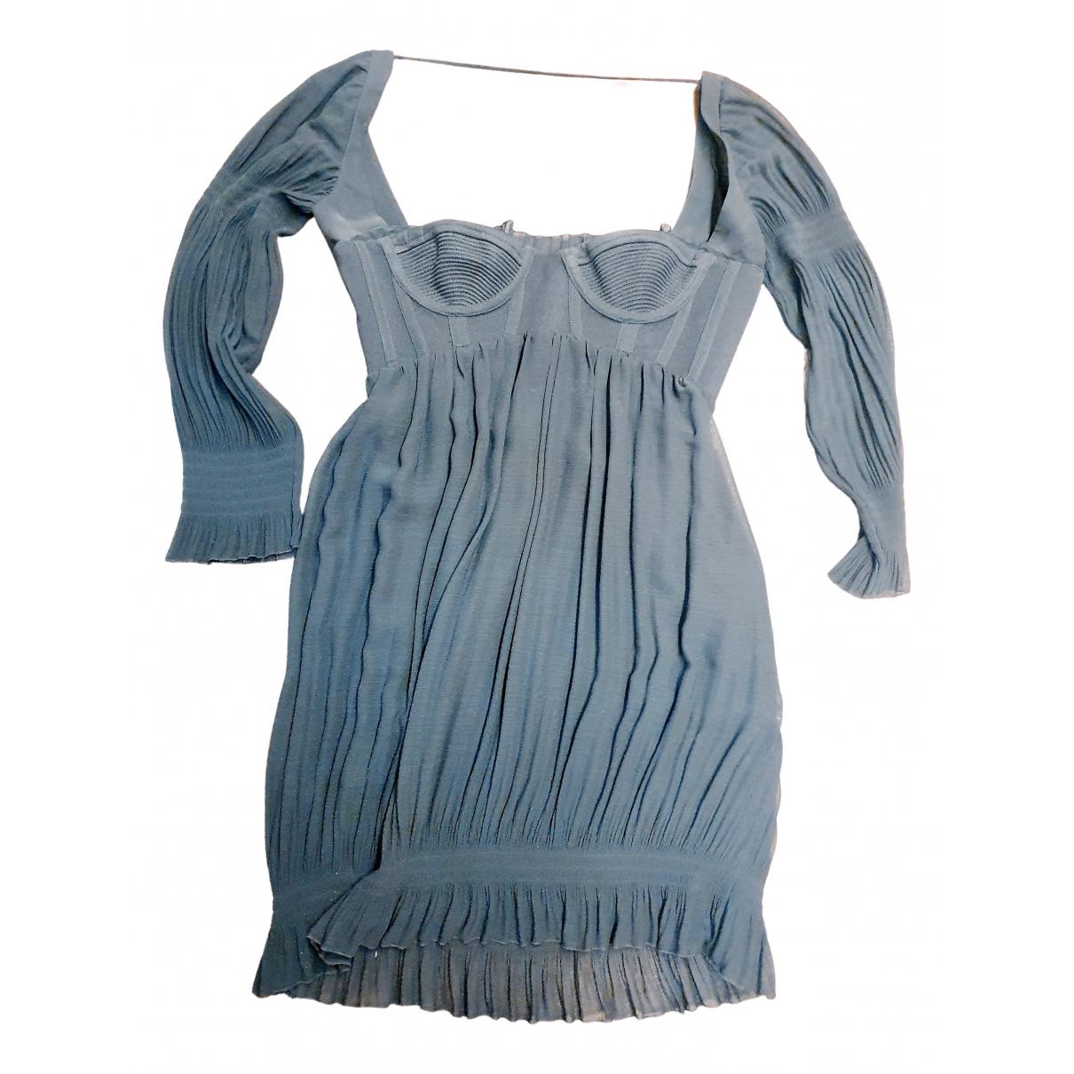 Gianni Versace \N Kleid in  Schwarz Seide