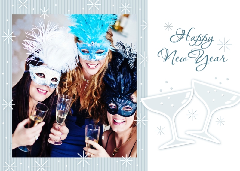 New Year's Mail-for-Me Premium 5x7 Folded Card , Card & Stationery -Happy New Year