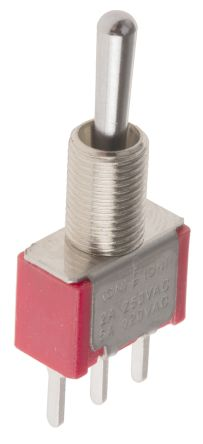 RS PRO SPDT Toggle Switch, (On)-Off-(On), PCB
