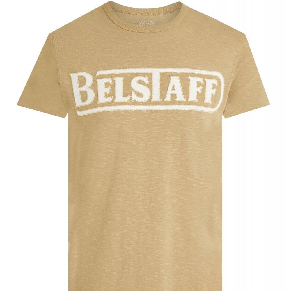 Belstaff Applique T-shirt Colour: BEIGE, Size: LARGE