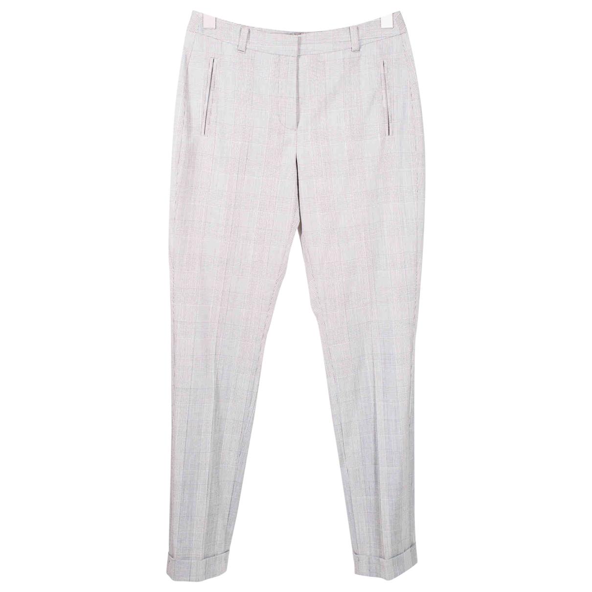 Lk Bennett \N Grey Wool Trousers for Women 36 FR