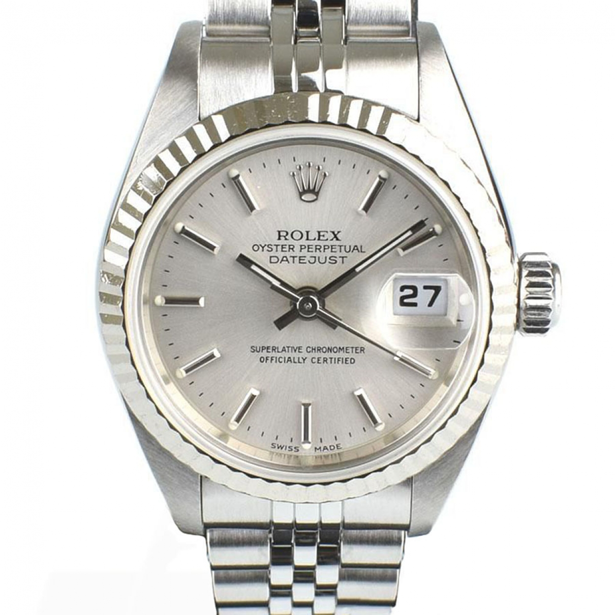 Rolex Lady DateJust 26mm Silver gold and steel watch for Women \N