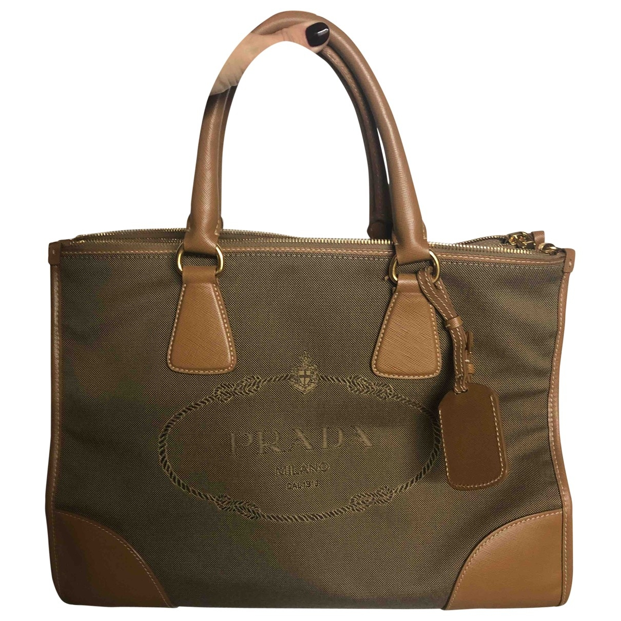 Prada \N Handtasche in  Kamel Leinen
