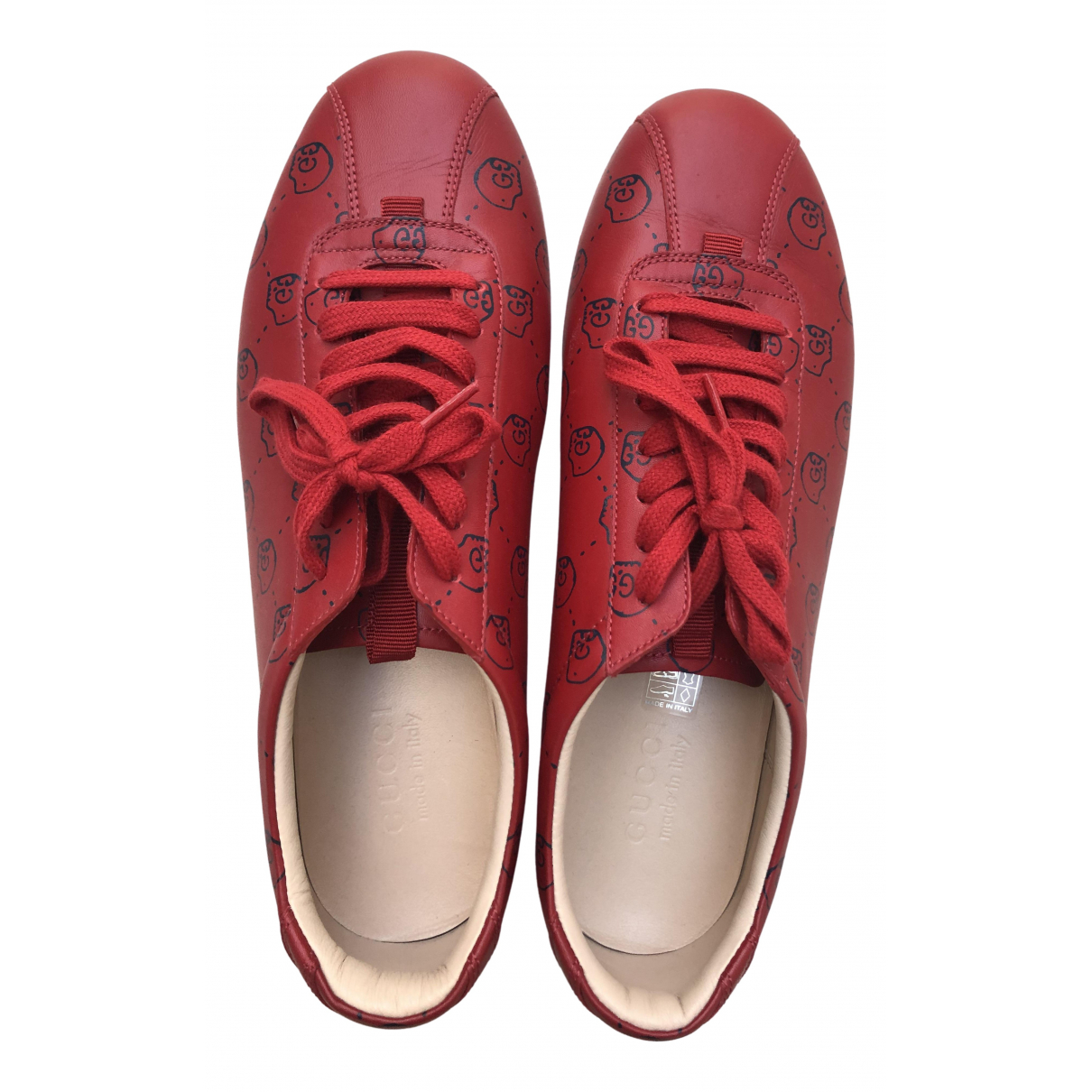 Gucci \N Red Leather Trainers for Men 9.5 UK