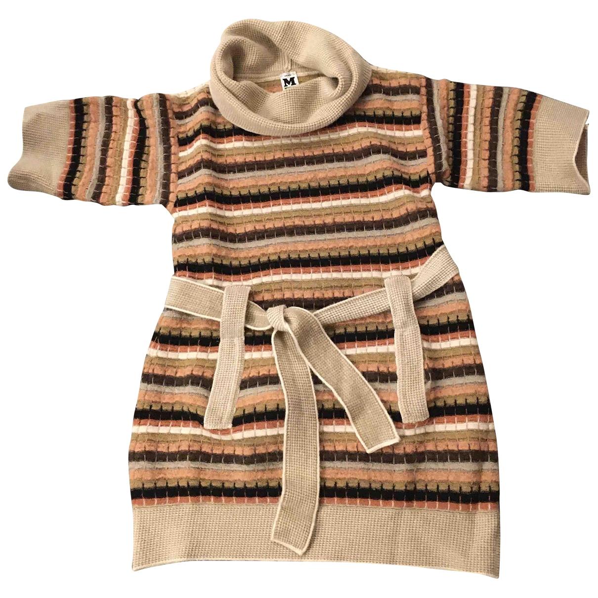 M Missoni - Robe   pour femme en laine - beige
