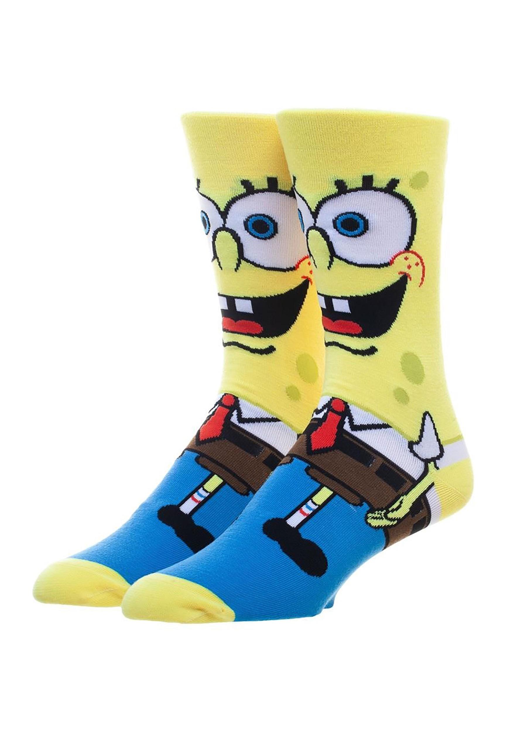 Nickelodeon Spongebob Squarepants 360 Character Crew Socks