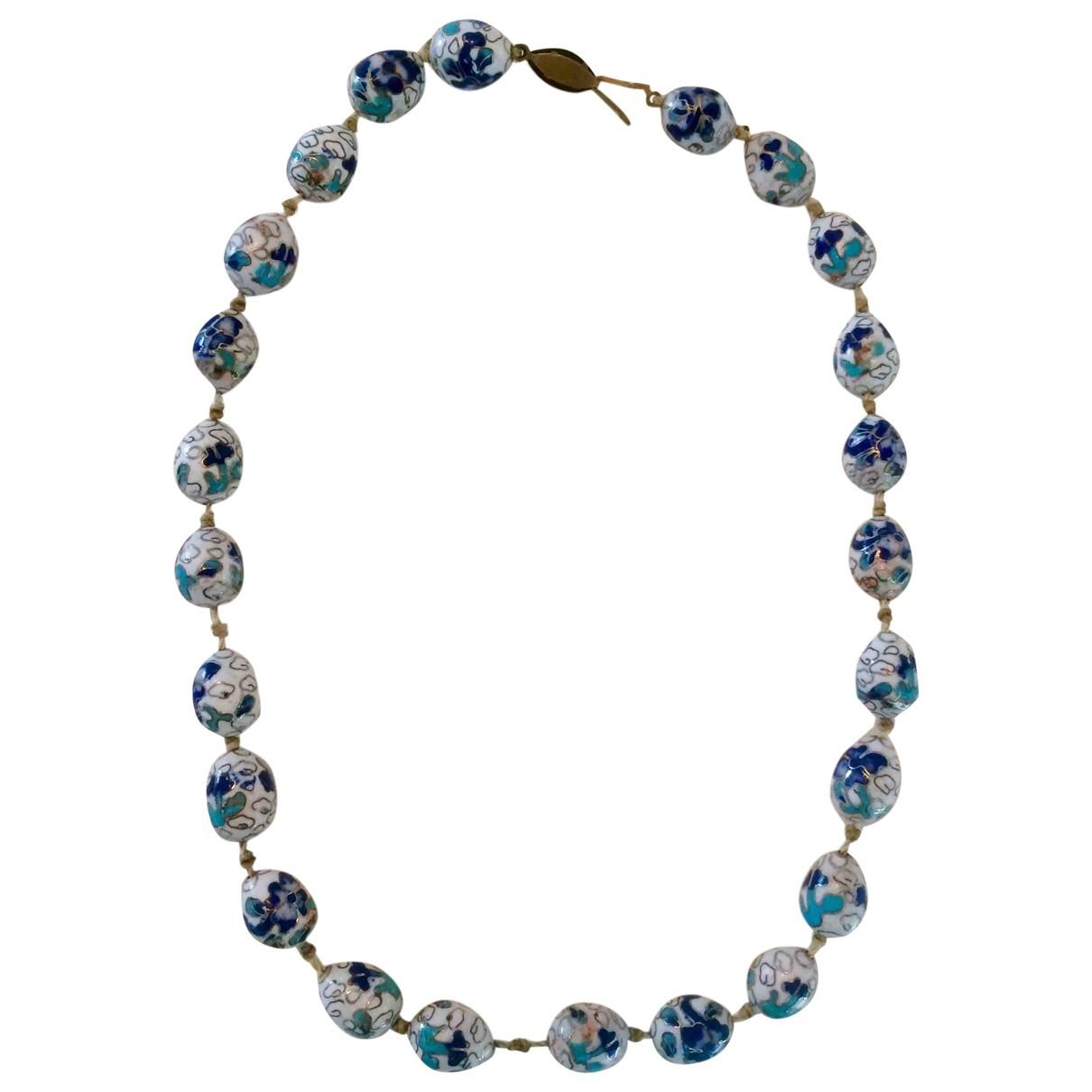 Collar largo Motifs Floraux de Ceramica Non Signe / Unsigned