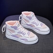 Colorblock High Top Skate Shoes