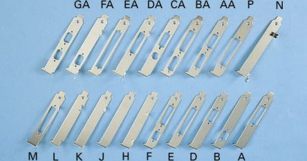 Keystone 427-59693J, D-sub, 25 Pin PCB Card Bracket Without Fixing Ears, Component Side