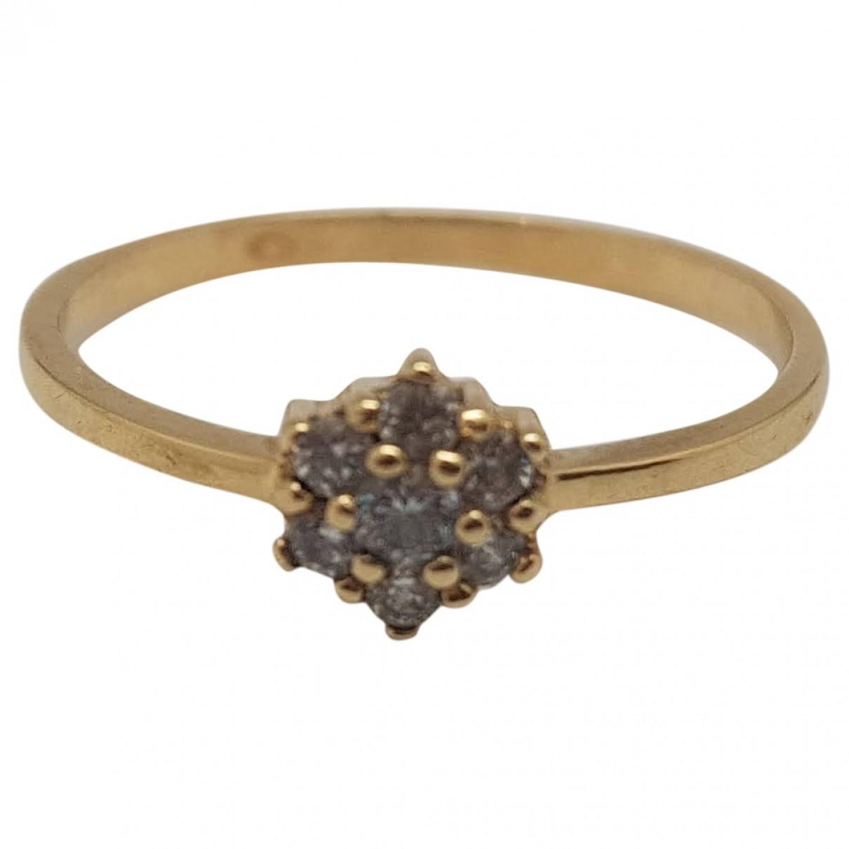 Non Signe / Unsigned Motifs Floraux Ring in  Gelb Gelbgold