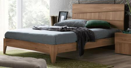 Storm STORMBEDQS 67 Queen Sized Bed with Wooden Construction and Tapered Legs in