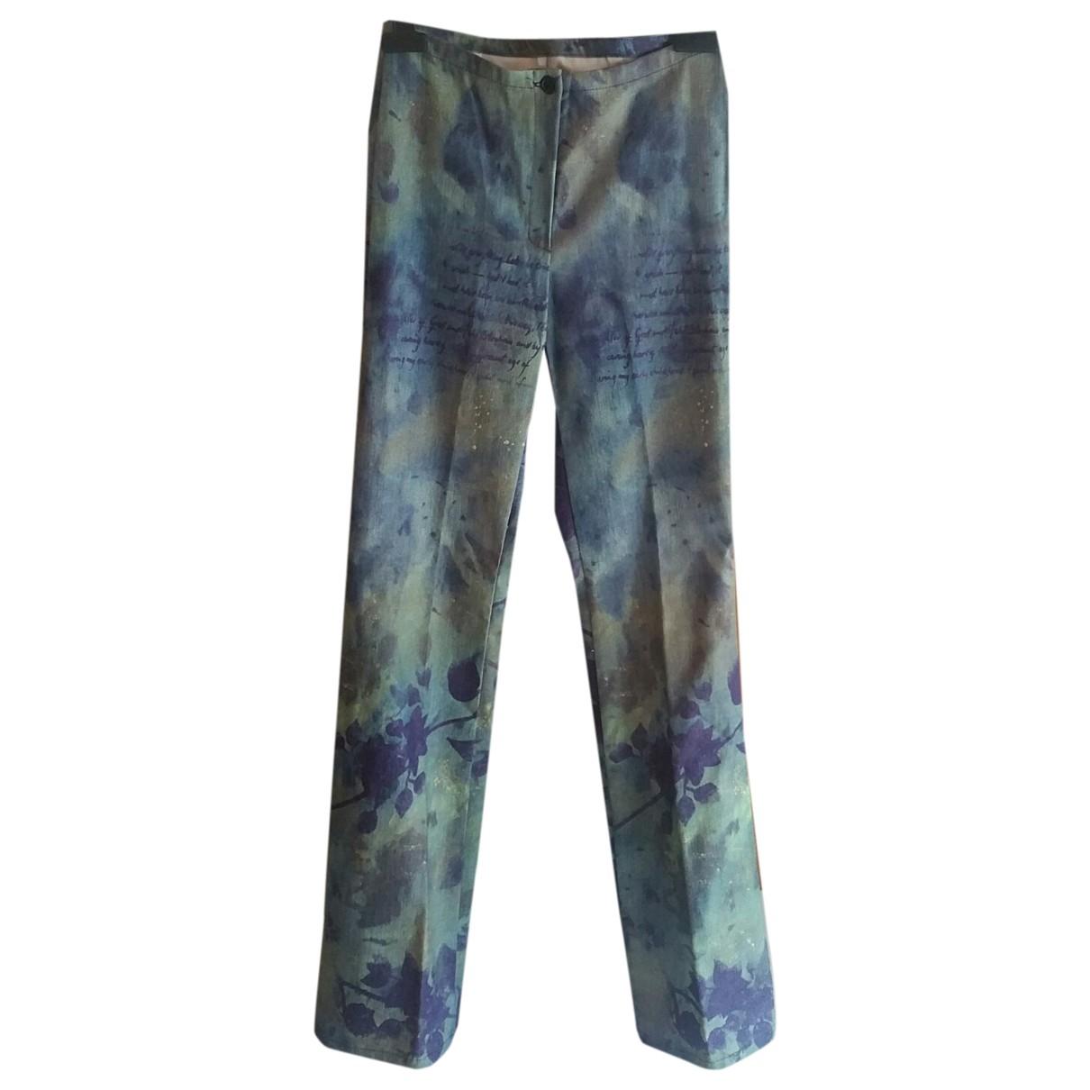 Non Signé / Unsigned \N Multicolour Cotton Trousers for Women 40 IT