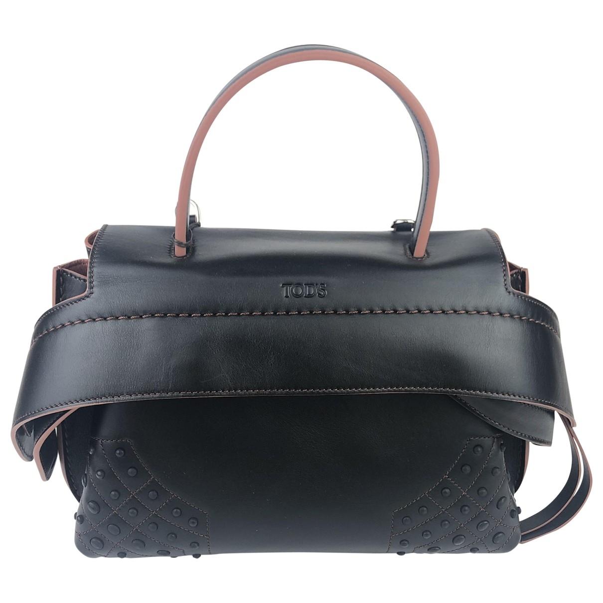 Tods Wave Handtasche in  Schwarz Leder