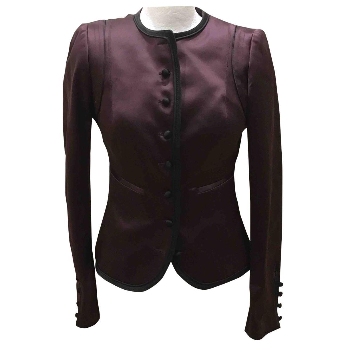 Costume National - Veste   pour femme en soie - violet