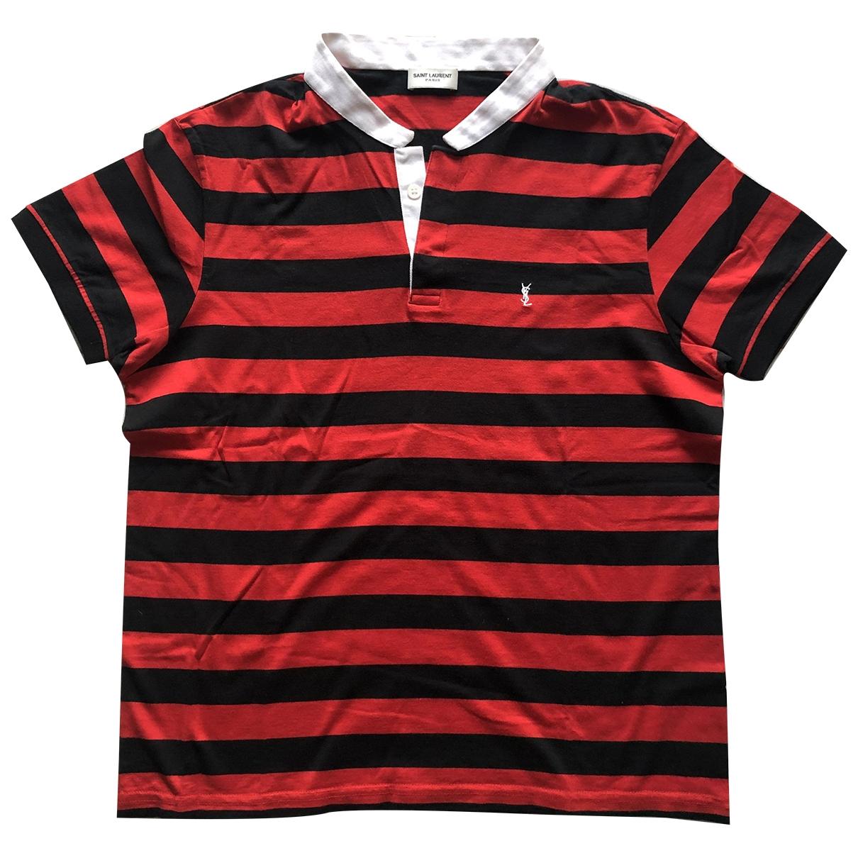 Saint Laurent - Tee shirts   pour homme en coton - rouge