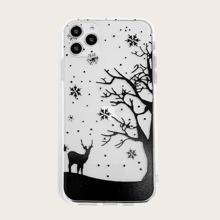 Elk & Tree Print iPhone Case