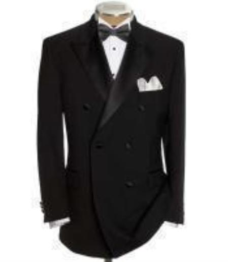 Double Breasted Tuxedo Shirt Bow Tie Package 6 on 2 Button  Jacket