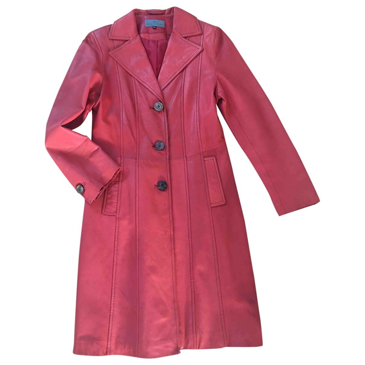 Jaime Mascaro - Manteau   pour femme en cuir