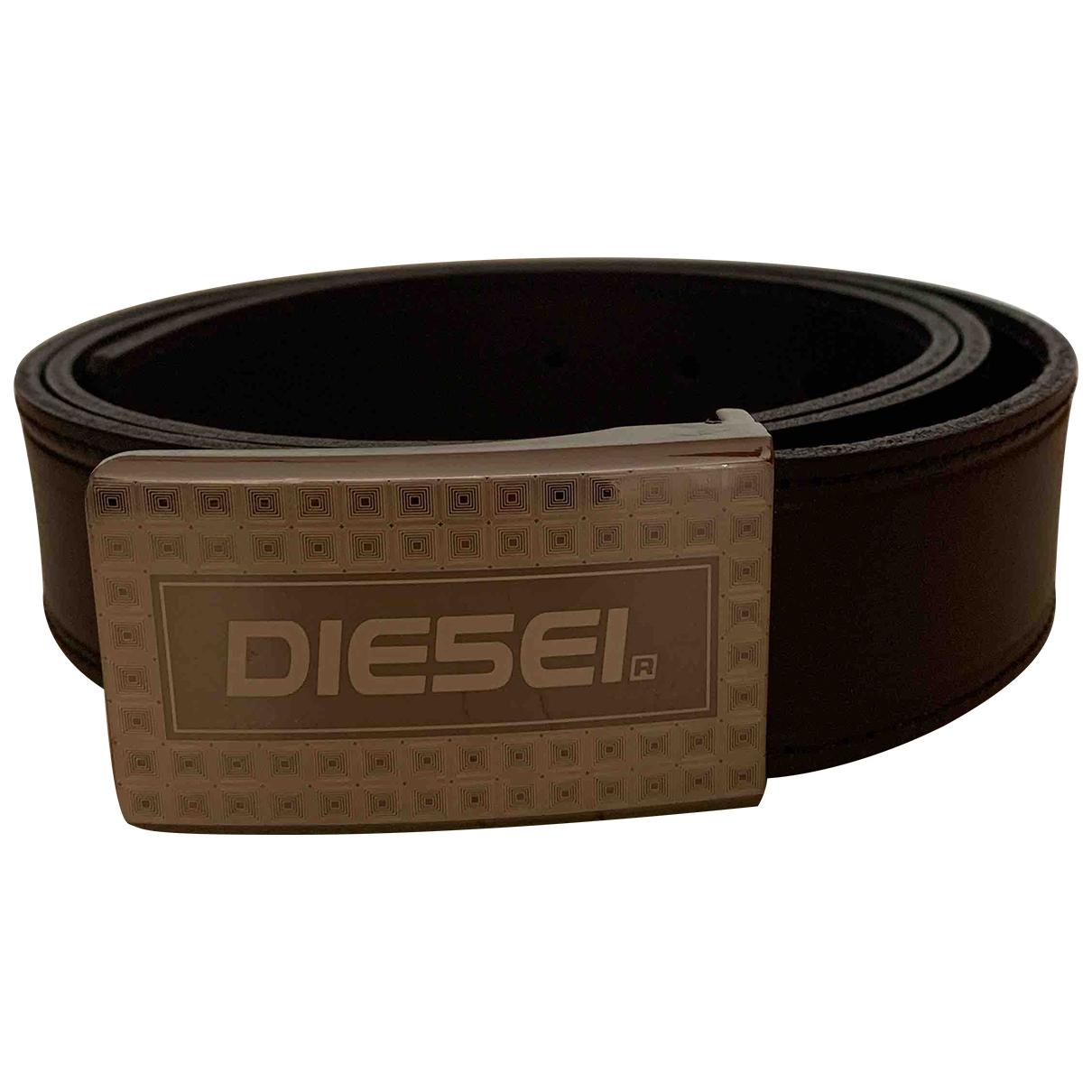 Diesel \N Guertel in  Schwarz Leder