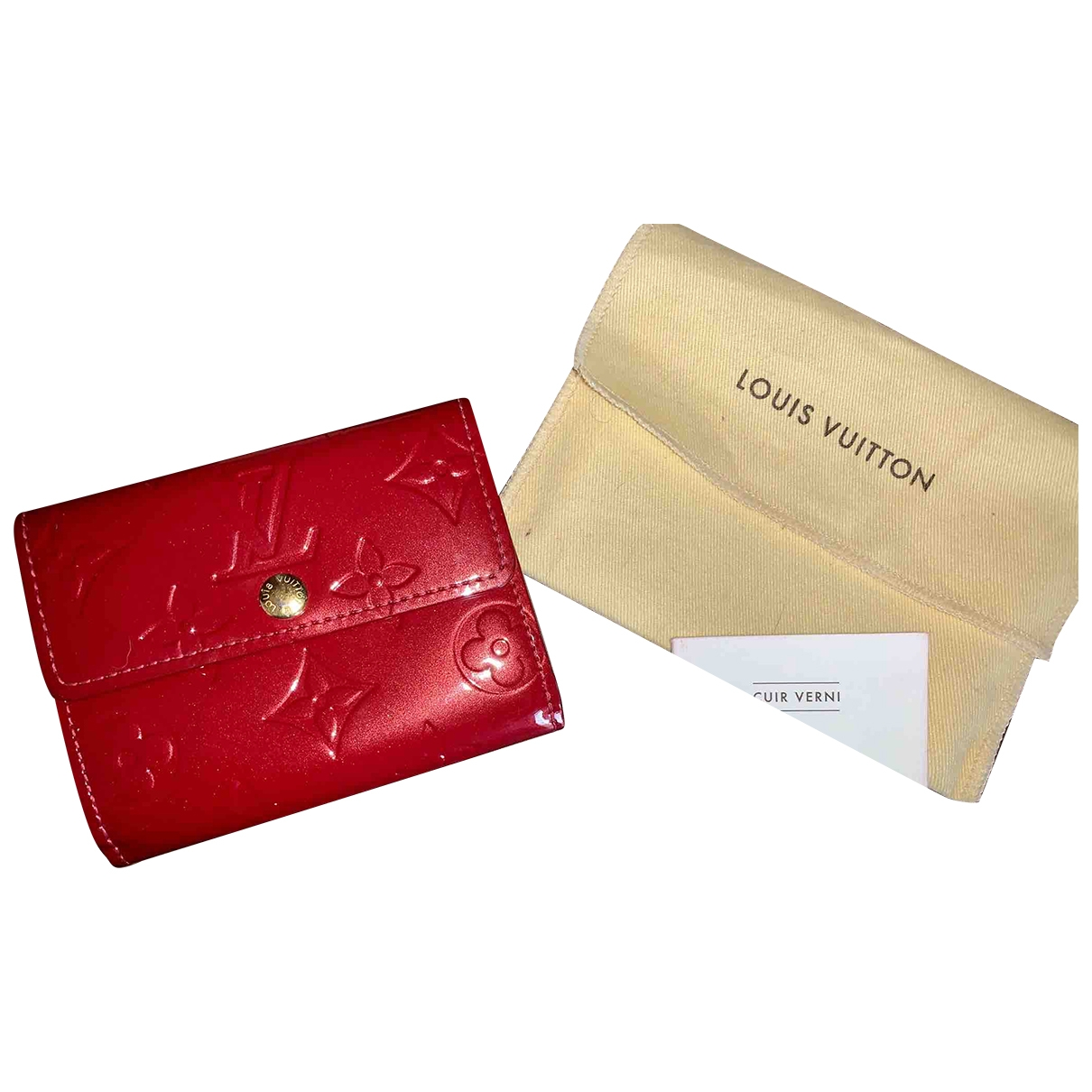 Louis Vuitton Alexandra Portemonnaie in  Rot Lackleder
