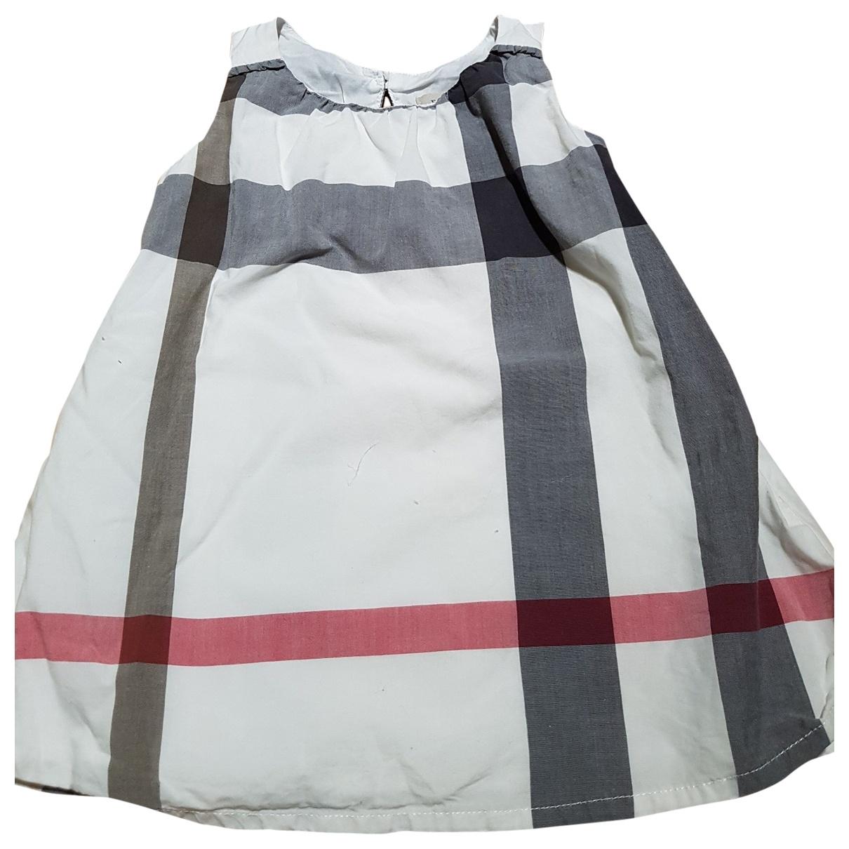 Burberry - Robe    pour enfant en coton - blanc