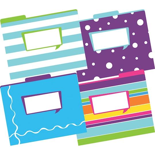"Barker Creek® 8.5"" X 11"" Multicolored Happy Letter-Size File Folders, 12 ct   Michaels®"