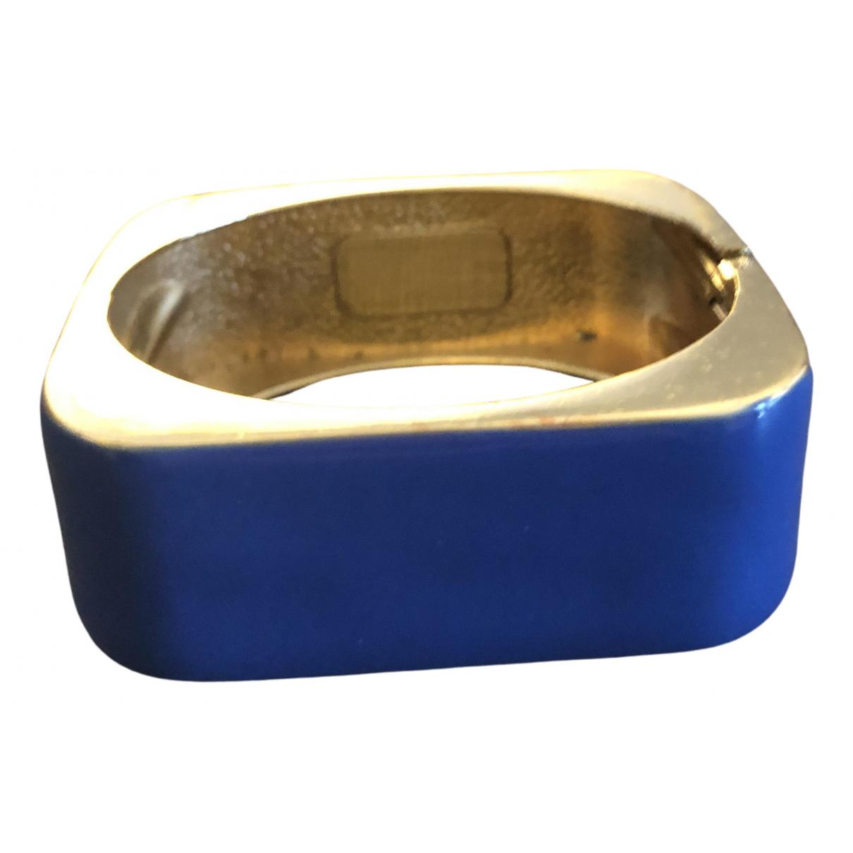 - Bracelet Manchette pour femme en metal - bleu