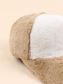 Two Tone Fluffy Baseball Cap