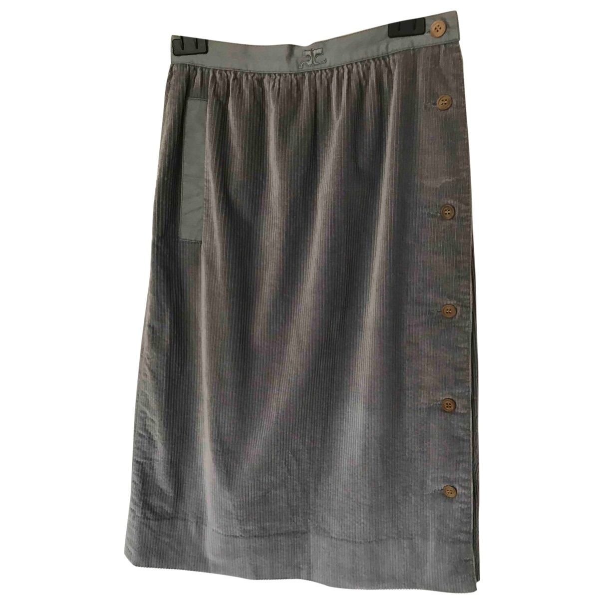 Courrèges \N Grey Cotton skirt for Women 000 0-5