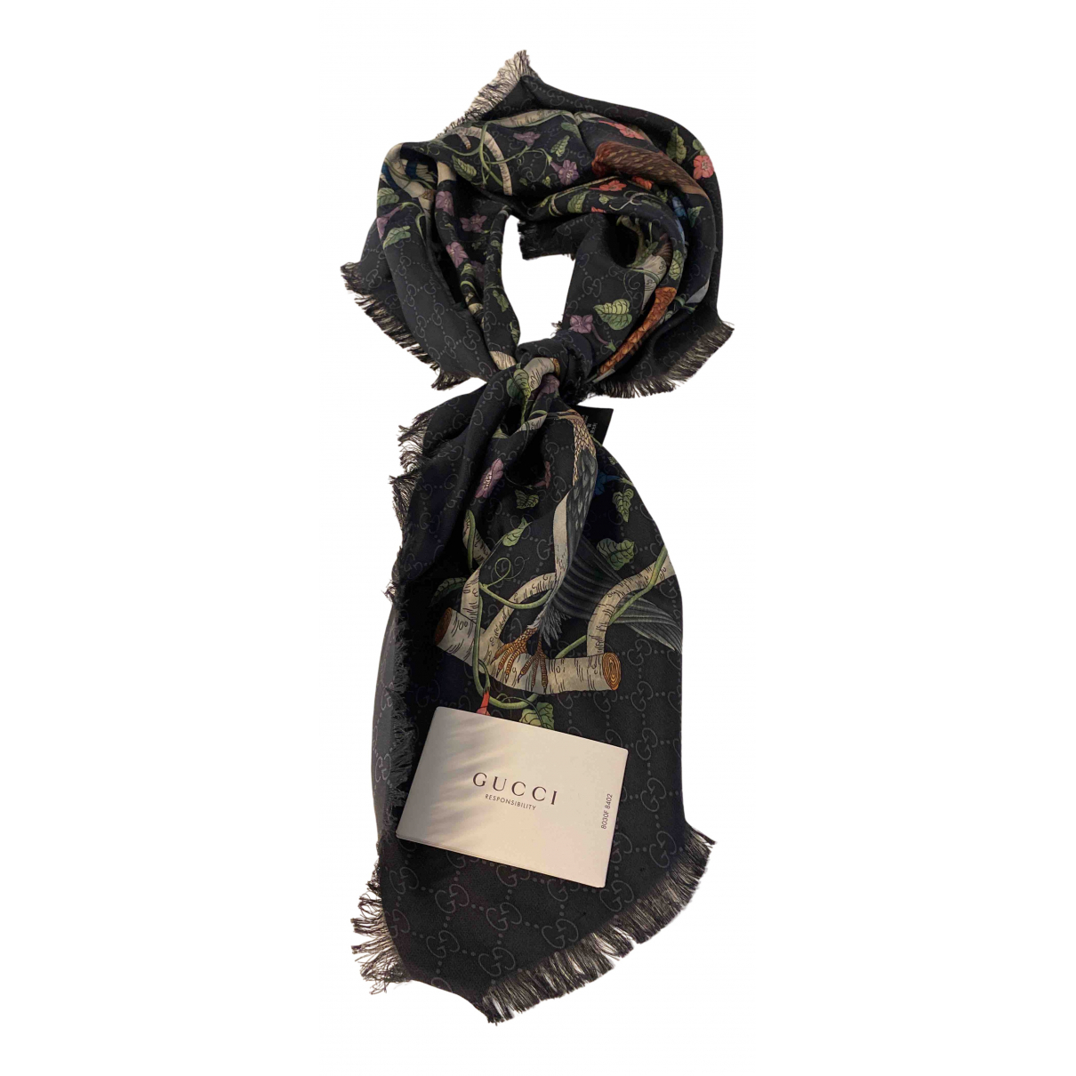 Gucci \N Anthracite Silk scarf for Women \N