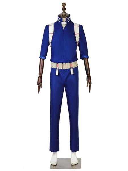 Milanoo Halloween Disfraz Carnaval My Hero Academia Cosplay Todoroki Shouto Blue Uniform Cloth Cosplay Disfraces Carnaval