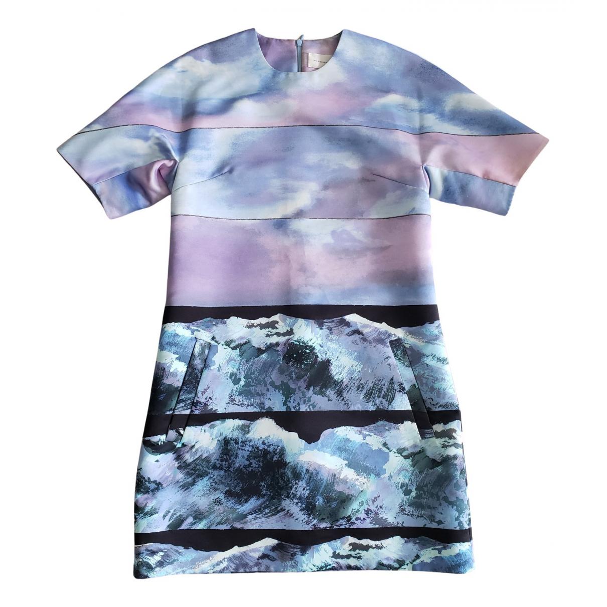 Victoria, Victoria Beckham \N Kleid in  Bunt Polyester