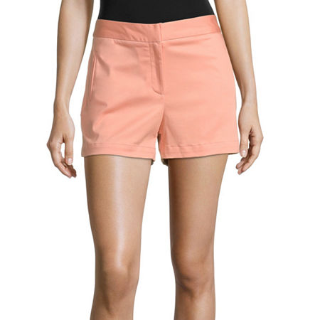 Worthington Womens High Rise Midi Short, 18 , Pink
