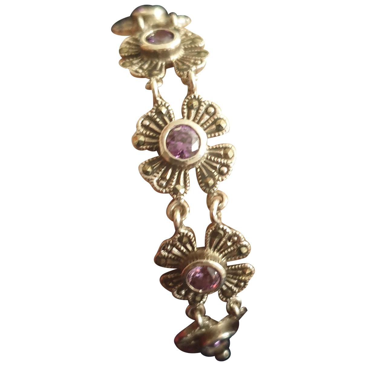 - Bracelet Gourmette pour femme en argent - violet