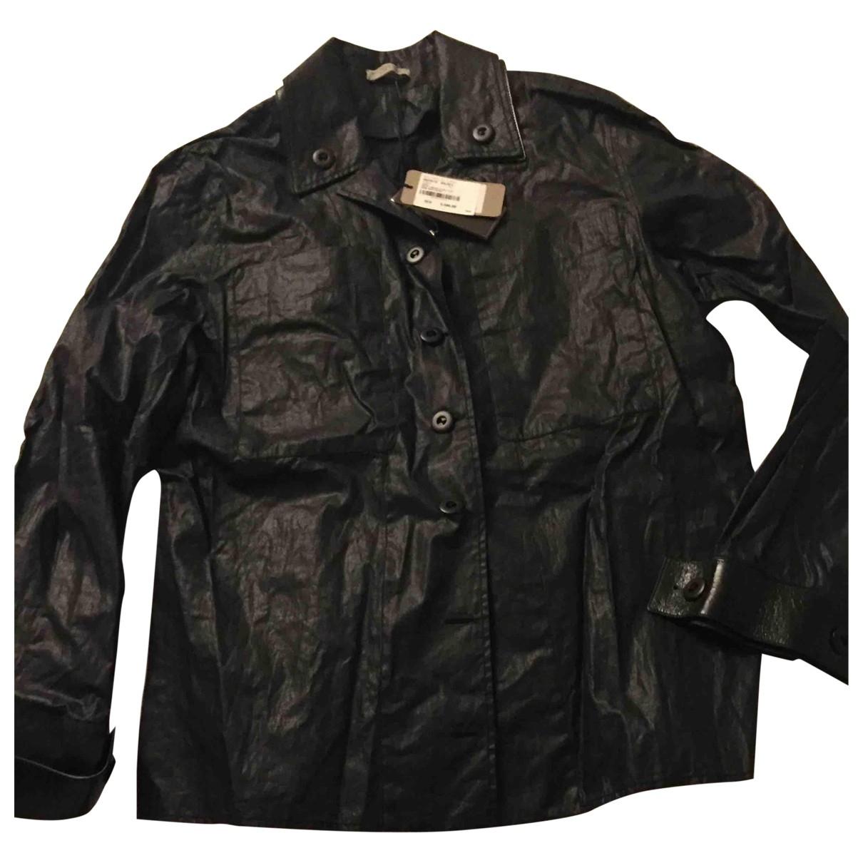 Bottega Veneta \N Black Leather jacket for Women 44 FR