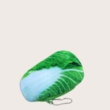Funda de moneda de niñas con diseño de vegetal