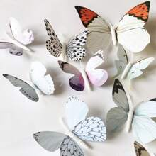 12pcs 3D Butterfly Shaped Wall Sticker