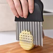 1pc Stainless Steel Potato Wave Cutter