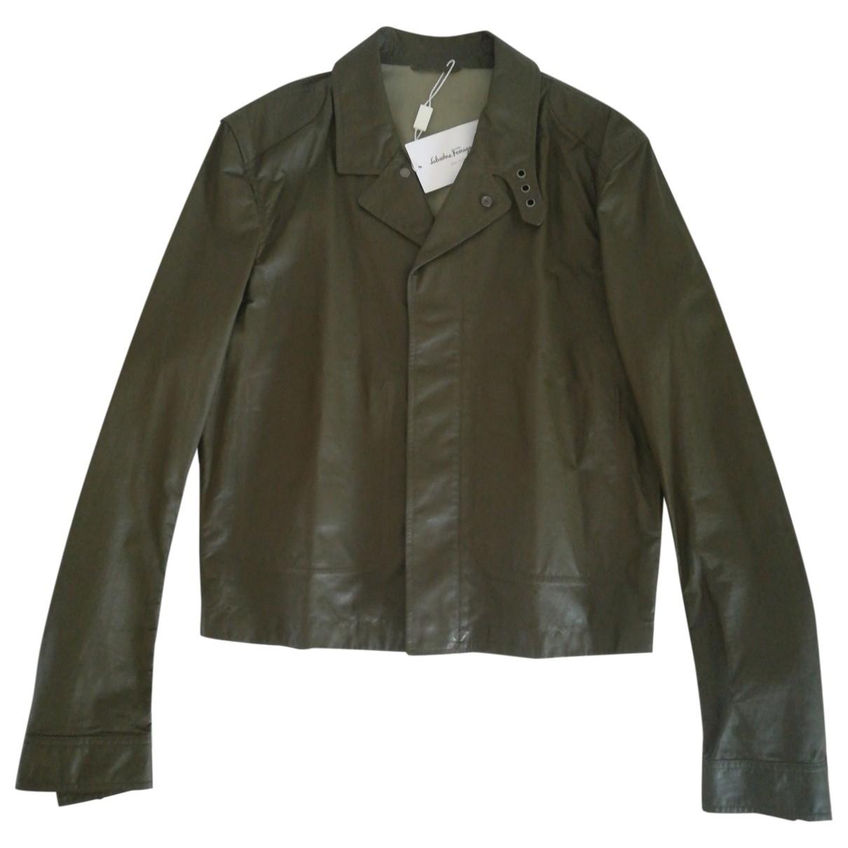 Salvatore Ferragamo \N Green Leather jacket  for Men M International