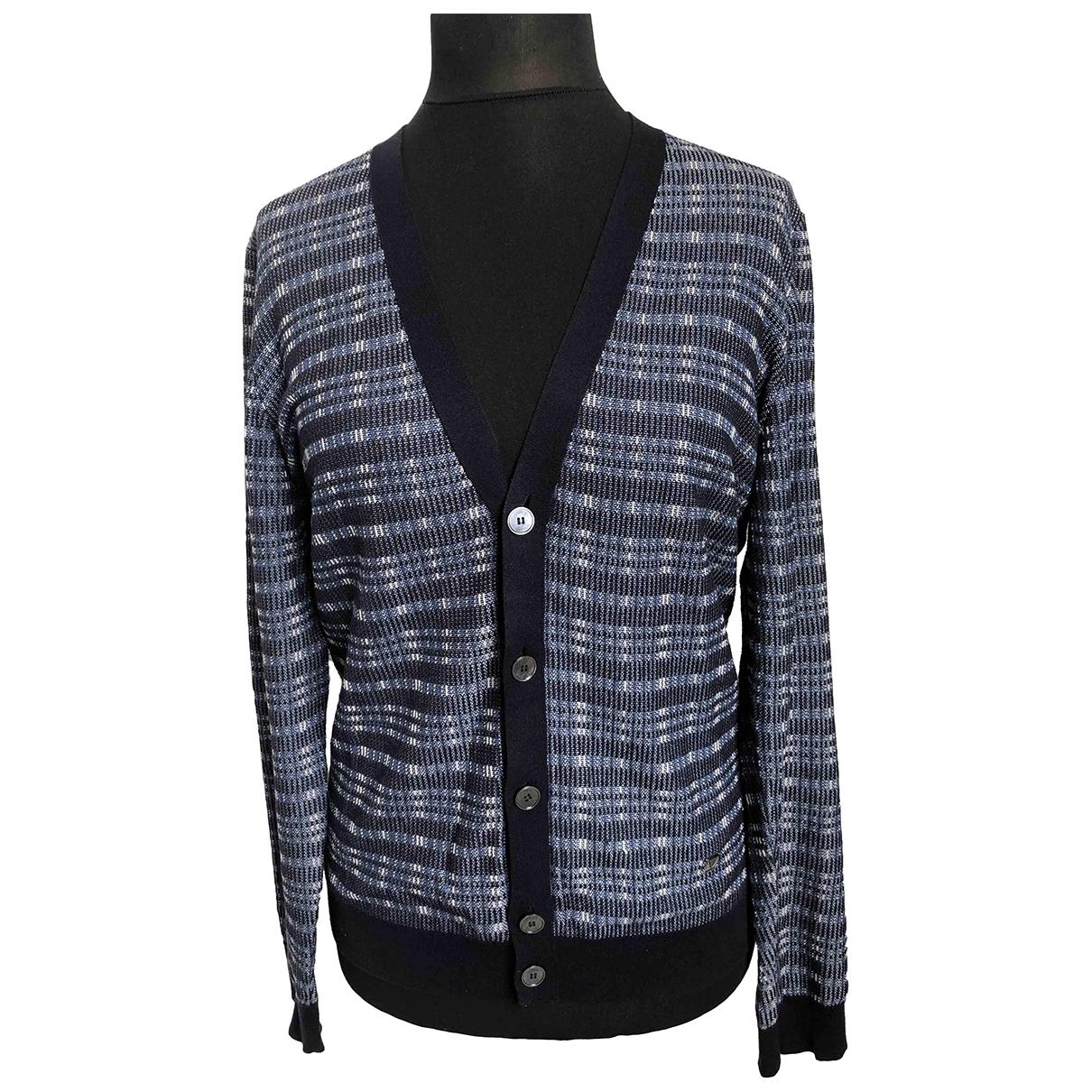 Louis Vuitton \N Pullover.Westen.Sweatshirts  in  Blau Seide