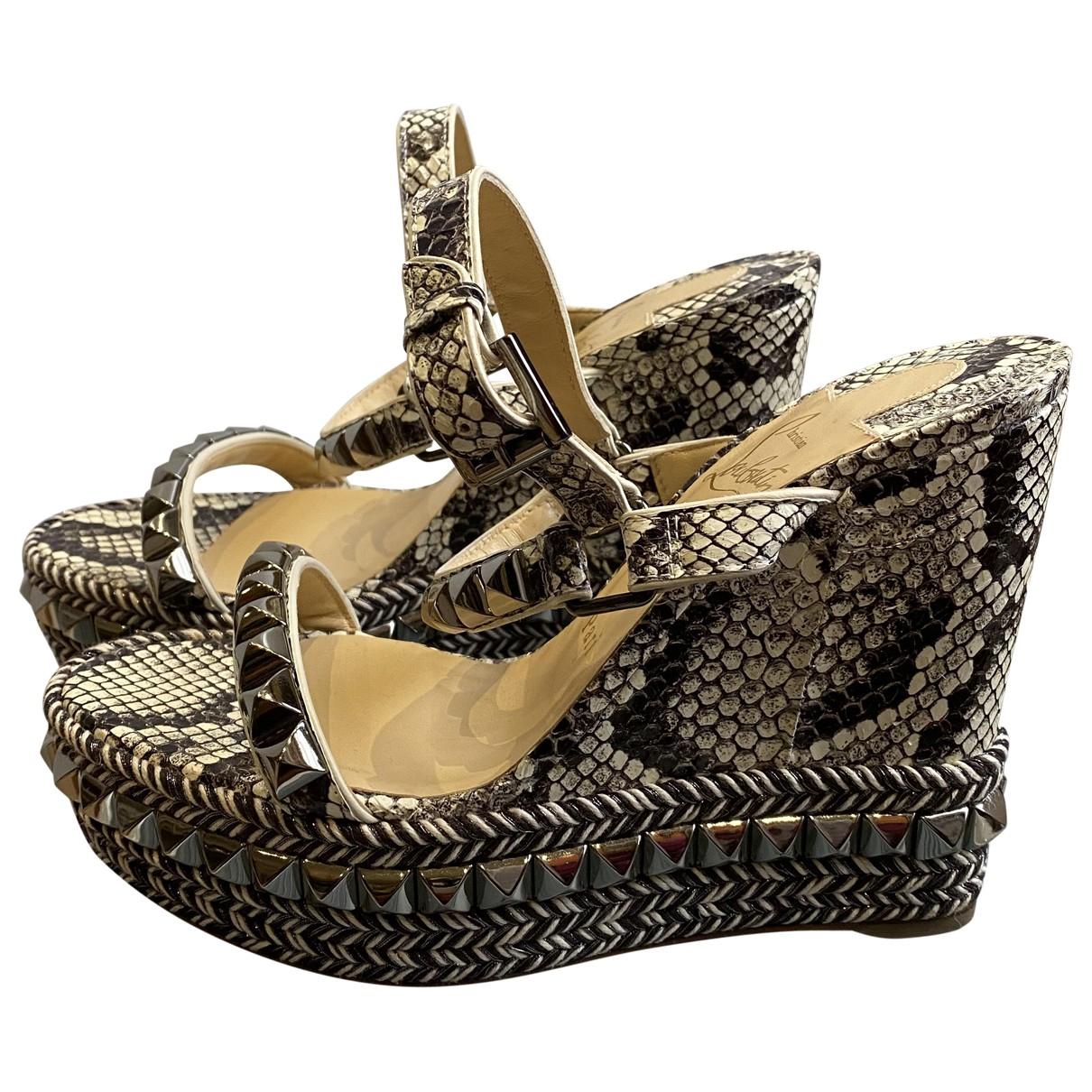 Christian Louboutin \N Multicolour Exotic leathers Sandals for Women 37 EU