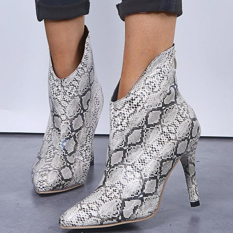 Ericdress Plain Stiletto Heel Pointed Toe Western Boots